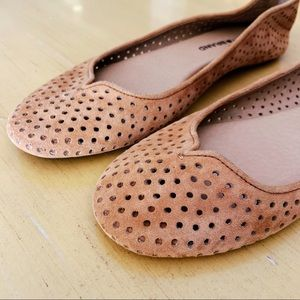 "Lucky Brand ""Enorahh"" Perforated Suede Flats"